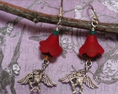 "Flying Monkey Earrings with Poppy Wizard of Oz  ""I'll Get You My Pretty"""