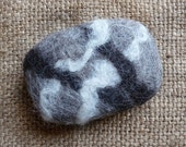 Soap Organic Felted Wool Soap With All Natural 4 oz Castile Soap In Un-Dyed Driftwood Marbled Color