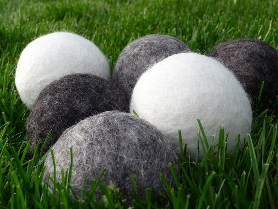 6 Wool Dryer Balls EXTRA LARGE Natural Pure Wool Non Dyed Organic Eco Friendly Scented or Unscented for Laundry