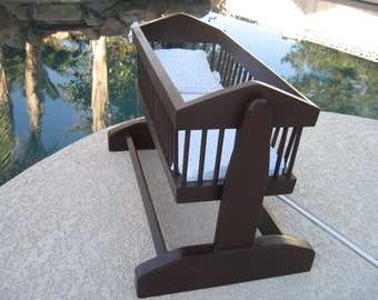 Wood Rocking Cradle for American Girl Doll