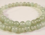 Jade Gemstone Rounds 4mm New Jade Natural Green Gemstones on a 7 3/4 Inch Strand with 47 Beads