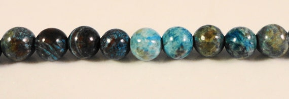 Rainbow Calsilica Gemstones 4mm Round Multicolor Brown, Gray, and Blue Gemstone Beads on a 7 3/4 Inch Strand with 52 Beads