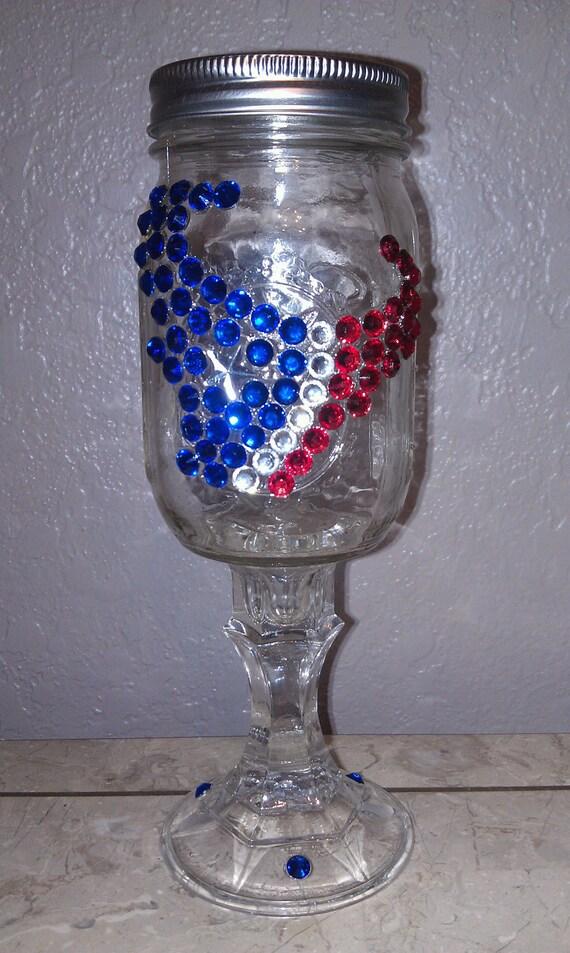 Houston Texans Redneck Wine Glass