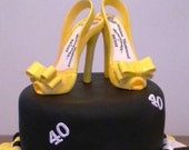 Gum paste shoe / sugar paste Shoe / Cake Topper / Gift / Cake Decoration