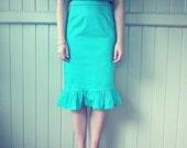 Mint high waisted pencil skirt