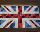 Union Jack Patchwork Cot Quilt/Playmat Made to Order