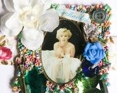 """The """"MARILYN MONROE"""" Bracelet -  from the Enchanted Collection - Buttons, Beads and Charms with VINTAGE buckle"""