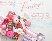 "The ""CANDY ROSE"" Bracelet -  from the Enchanted Collection - Buttons, Beads and Charms with VINTAGE buckle"