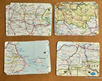 Vintage Journal Cards--Project Life--Maps