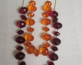 Chunky Monkey Necklace (Long) in Hokie Maroon and Orange