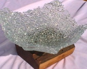 Fused Glass Bowl - Recycled Glass - Shattered Dreams