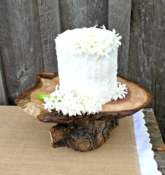 Rustic Wedding Wood Cake Stand: Items Similar To Rustic Wedding Cake Cupcake Dessert Stand