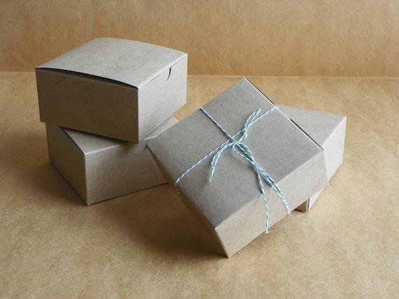 Kraft Gift Boxes 10 -4x4x2