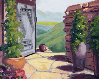 Doorway to the Mountains, Original Oil Painting