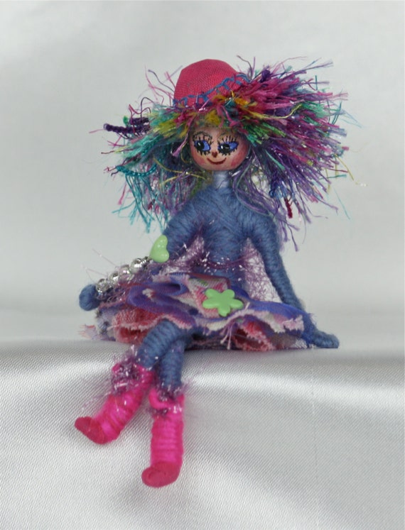Fairy Doll OOAK Collectable Art Doll Spring Flower Elf