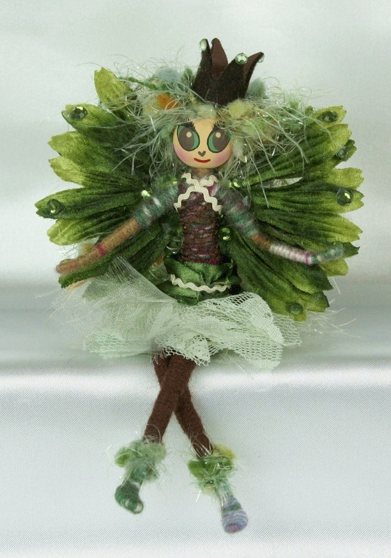 Woodland Princess Fairy One of a Kind Fantasy Art Doll Faerie Butterfly Girl OOAK