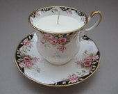 Antique Queens Teacup Candle with Soy Wax