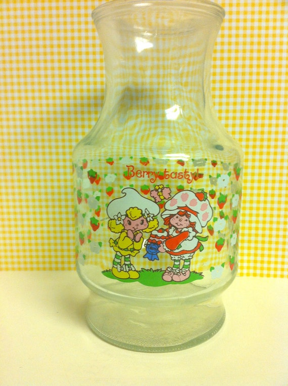 Strawberry Shortcake Berry Tasty Juice Carafe 1981