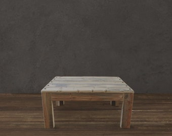 Reclaimed Wood Parsons Table      (Industry Collection)