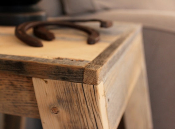 Reclaimed Wood Side/End Table    (Hemmingway Collection)