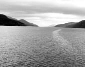underwater monster // Loch Ness, Scotland // Loch Ness Monster // Nessy // fine art print // black & white