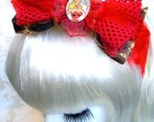 extraordinary feather hair band leo red pin-up girl hair accessoires hair dresses leoprint