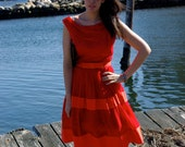 Lipstick red 50's Party Dress