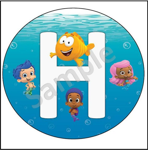 Items similar to bubble guppies printable large happy birthday banner with name age - Bubble guppies birthday banner template ...
