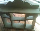 Now on Sale - Vintage Cottage Scalloped Cubby Shelf Hutch