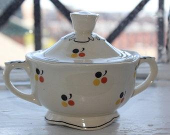 Very rare Arabia Finland Sugar bowl with lid