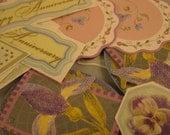 "Vintage Collection of ""Do-Jiggies"" Stickers  -  Ephemera  -  Anniversary Theme  -  12 Pieces"