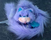 Vintage Furrever Friends Kitty, Posietail, children's stuffed animal, plush cat 1986, by Kenner