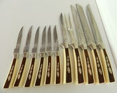 Regent Sheffield Autumn Maple Leaf Knife Set Cutlery 11 Pieces Made in England