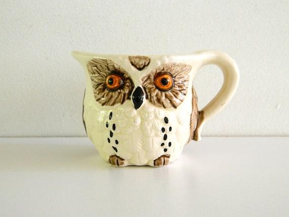 Vintage Owl Creamer Enesco