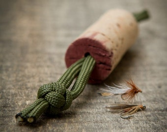Fly Drying Wine Cork for Fishing Lanyards or Vests
