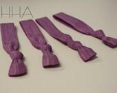 Dusty Purple Hair ties - Set of 4