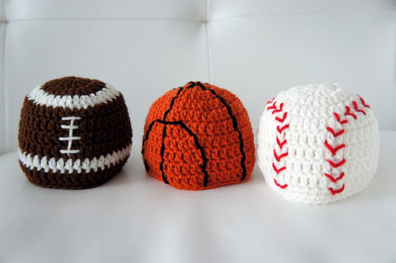 Sports Hats Baseball Basketball Football by stylishbabyhats