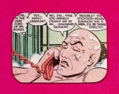 Recycled Vintage Comic Book Magnet: You Merely Caught Me At an... Awkward Moment