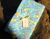 Flannel Baby Quilt - 32 x 40  inches, 100% cotton flannel both sides, machine washable, dryable, Happy Suns and Kites