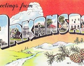 Postcard Greetings from Arkansas Vintage for Scrapbooking and Travel Albums