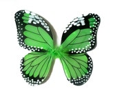 Apple Green Glitter Nylon Butterfly Baby Toddler Girls Costume Wings Size 6MonthTo 5T