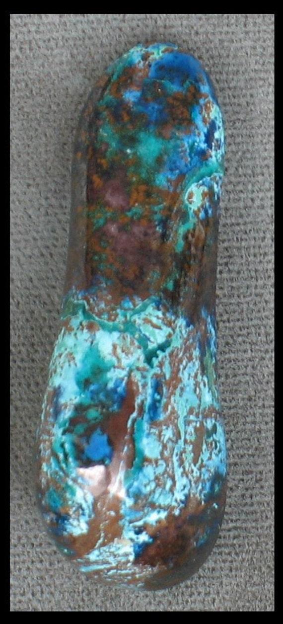 Shattuckite, dioptase, cuprite chrysocolla freeform healing stone 43 x 17 x12mm at 14 grams