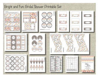 Bridal Shower Printable Party Kit