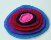 Rounders Collection - layered colorful felt brooch