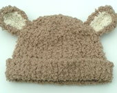 PDF KNITTING PATTERN - The Cuddly Bear baby beanie - baby hat - photo prop