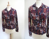 Women blouse, multi coloured, geometric, small