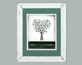 Personalized Children Decor- Custom Fingerprint Family Tree Art- Personalized Father's day- green gift for new dad or grandpa- monogrammed
