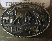 Belt Buckle from National Finals Rodeo 1981 Oklahoma City Oklahoma