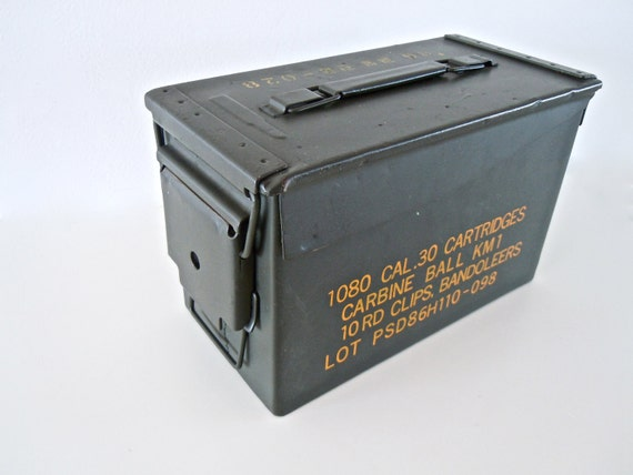 RESERVED FOR BOHRABOHRA // steel grey and yellow ammo box