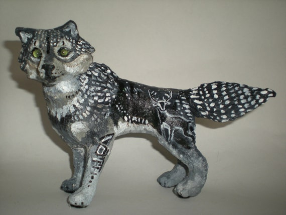 Spirit of the Hunt-small wolf sculpture